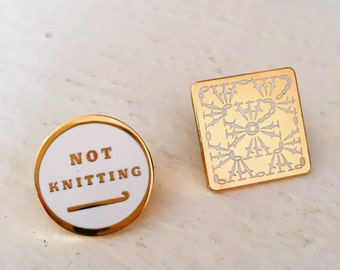 Crochet Love Enamel Pin Set