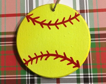 Softball fastpitch/slowpitch personalized Christmas ornament