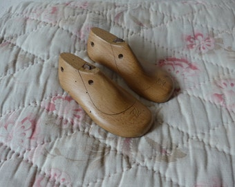 Antique wooden children's shoe forms