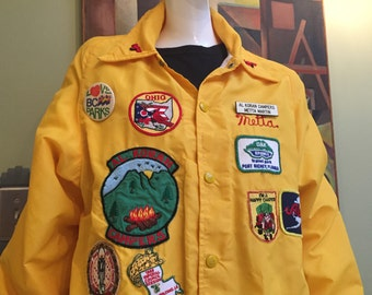 Vintage Shriners Camping Jacket - Embroidered Patches