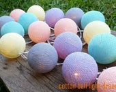20 pastel cotton balls for decorated new year party,Halloween party,birthday party,wedding decorated,bedroom decorate