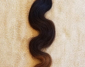 """18"""" Body Wave Weft Hair, 100grs,Weft Weaving (Without Clips),100% Human Hair Extensions,  7A Brazilian Ombre # T1B/4/30"""