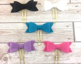 Felt Bow Planner Clips // Large and Medium // Paperclips // Bookmarks