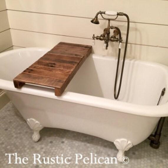 altholz badewanne tablett rustikales bad tablett badezimmer - Badewanne Rustikal