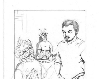 "Original Artwork - ""New Comic Day"" issue #315, Panel #4"
