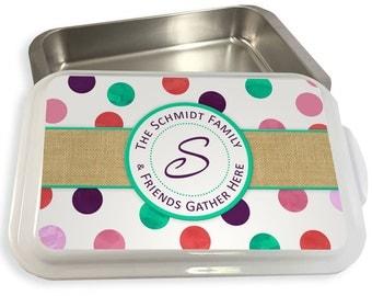 Cake & Casserole Pan Personalized Custom Monogram