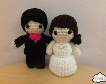 Amigurumi & wedding dolls crochet patterns by Yunies on Etsy