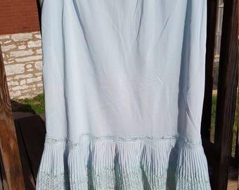 Baby Blue Vintage Slip Lingerie
