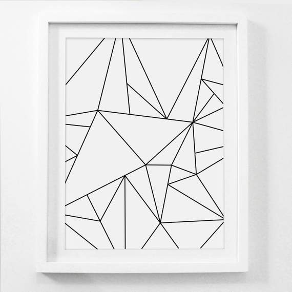 Geometric art black and white minimalist art geometric for Minimal art black and white
