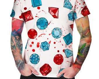 Gemstones White - T-shirt - Full print Shirt
