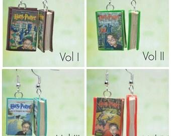 Harry Potter Book Earrings, German Edition