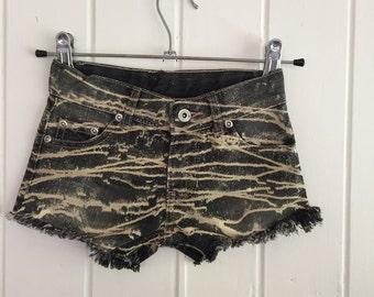 Kids denim shorts custom grunge