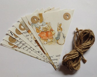 Handmade Bunting - Beatrix Potter - Peter Rabbit - Vintage Book Bunting - Childrens Gift - Nursery Decor