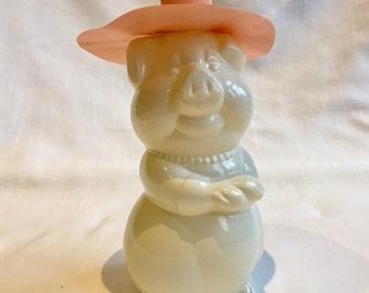 Adorable Lady Pig Piggy Figural Bottle
