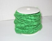 Wired Yarn, New, Green, Wire Wrapped Yarn, 32 feet each Spool, floral, jewelry, weaving, crafting supplies