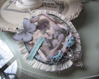 Springtime Ornament - Mother's Day Ornament - Victorian Mom - Victorian Birthday