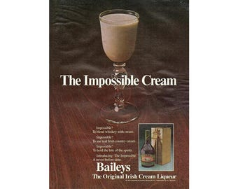 Vintage 1980 magazine ad for Baileys Irish Cream - 210
