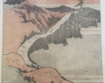 Hokusai print from 1840 Sketchbook