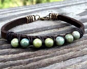 Boho Bracelet- Beaded Bracelets- Wrap Bracelet- Bohemian Jewelry- Fixer Upper- Bestfriend Gift- Leather Bracelet- Joanna Gaines