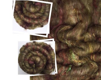 "Hand carded batt  ""FAIRIES GLEN"" spinning felting weaving - made to order"