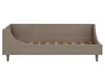 Mid century modern twin bed  grey stain foe Sarah