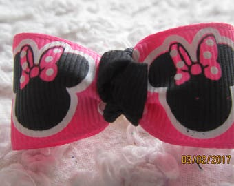 Dog Hair Bows Can Mix and match with any of my bows, Pink Minnie Head  dog bows, bows