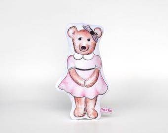 Darla Bear Softie // cushion, baby's room, nursery, childs room, children's bedroom, imaginative play, waldorf, steiner