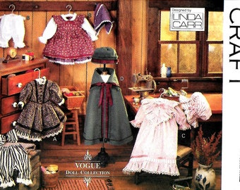 """Vogue 8337     """"Early American""""  Clothes  for 18"""" Doll    Uncut"""