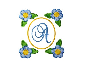 """Flower Collection Applique Machine Embroidery Design Pattern in 4 sizes 3"""" 4"""", 5"""" and 6"""""""