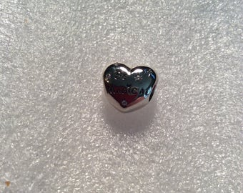 "PANDORA/Disney ""Be Magical"" Heart Charm with CZ and Free Shipping!"
