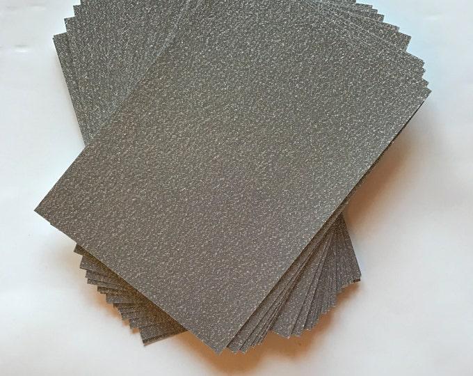 5.125x7.125 Silver Sparkly Glitter Paper for Wedding Invitations