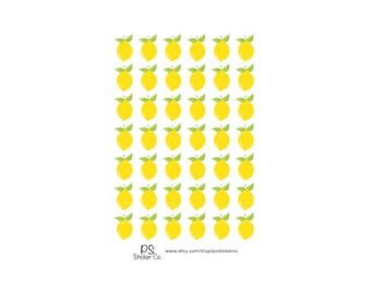 Lemon Stickers - Lemon Planner Stickers  - Erin Condrden  Planner Stickers - Decorative Stickers - Happy Planner Stickers