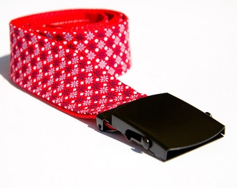 -Belt red 108 cm fabric
