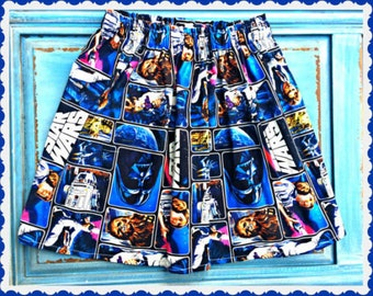 girls star wars skirt 2T 3T 4T 4/5 6/6X 7/8 10/12 14/16 ready to ship