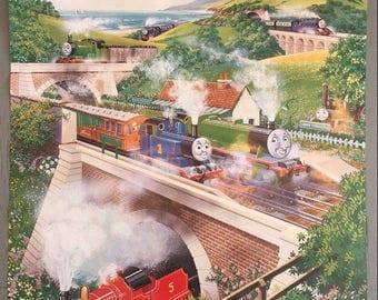 Vintage 1987 THOMAS THE TANK Train Kaye & Ward Limited Poster Germany 27x39