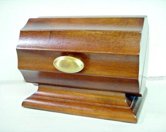 Bombay Co UNUSUAL STORAGE BOX Mahogany Casket