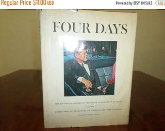 Save 25% Now Vintage 1964 Hardcover Book Four Days Historical Record of John F Kennedys Death with Dustjacket
