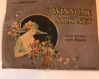 Vintage Made in France Winsome Silk Hair Net