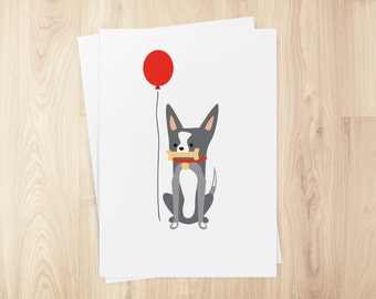 Chihuahua Greeting Card (blank inside), set of 5 cards