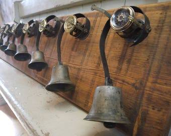 Rare Salvaged Antique Original Servant Bells - 7 Graduating Bells