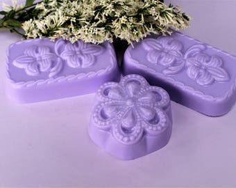 Lilac Soap Lilac Soap, Handcrafted Glycerin Soap, Floral Soap - Soap Sets, Bridal Shower Favors