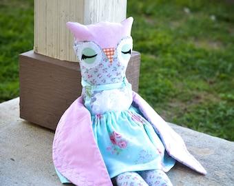 Owl - Owl Doll - Stuffed Owl - Plush Owl - Stuffed Animal - Plush Toy - Plush Animal - Owl Toy - Unique Stuffed Animal - 18 Inch Doll