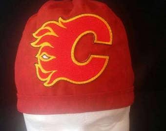 Calgary Flames Canada NHL Hockey Tie Back Surgical Scrub Hat