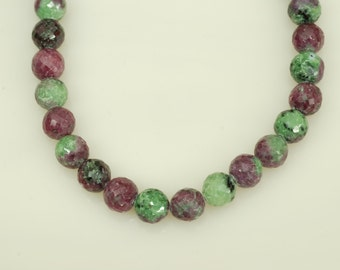 """Ruby Zosite 7.5"""" faceted beads"""