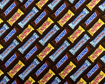 Candy Bar Fabric Snickers Twix 3 Musketeers From Springs Creative