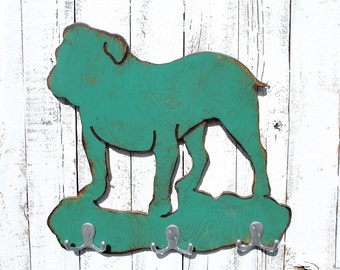 Bull Dog Leash Holder Dog Leash Hanger Dog Gift Idea Dog Leash Hook Dog Lover Gift Dog Lovers Gift Dog Sign Decor Gift Dog READY TO SHIP