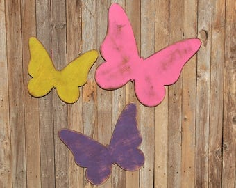 Butterfly Set Woodland Baby Shower 3d Wall Butterflie Forest Bedroom Forest Art Nursery Woodland Baby Room Rustic Nursery Play READY TO SHIP
