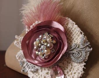 Vintage Burlesque Headpiece Hat Victorian Steampunk Marie Antoinette