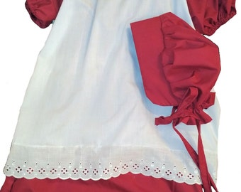 Civil War Reenactment Little House on the Prairie Girls 4 6 8 Pioneer Dress Sizes Colors Available