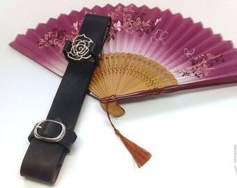 Black Rose Fan Holster with Fan